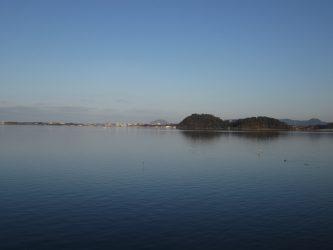 日本一の広さを誇る「湖山池」