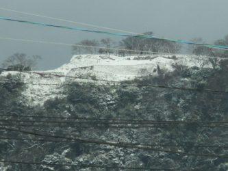 鳥取城跡の雪景色