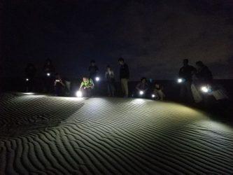 夜の砂丘「ミステリーナイトウオーク」の研修会を開催
