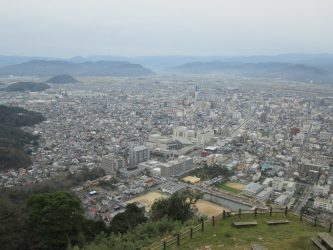 鳥取城登ったぞ!